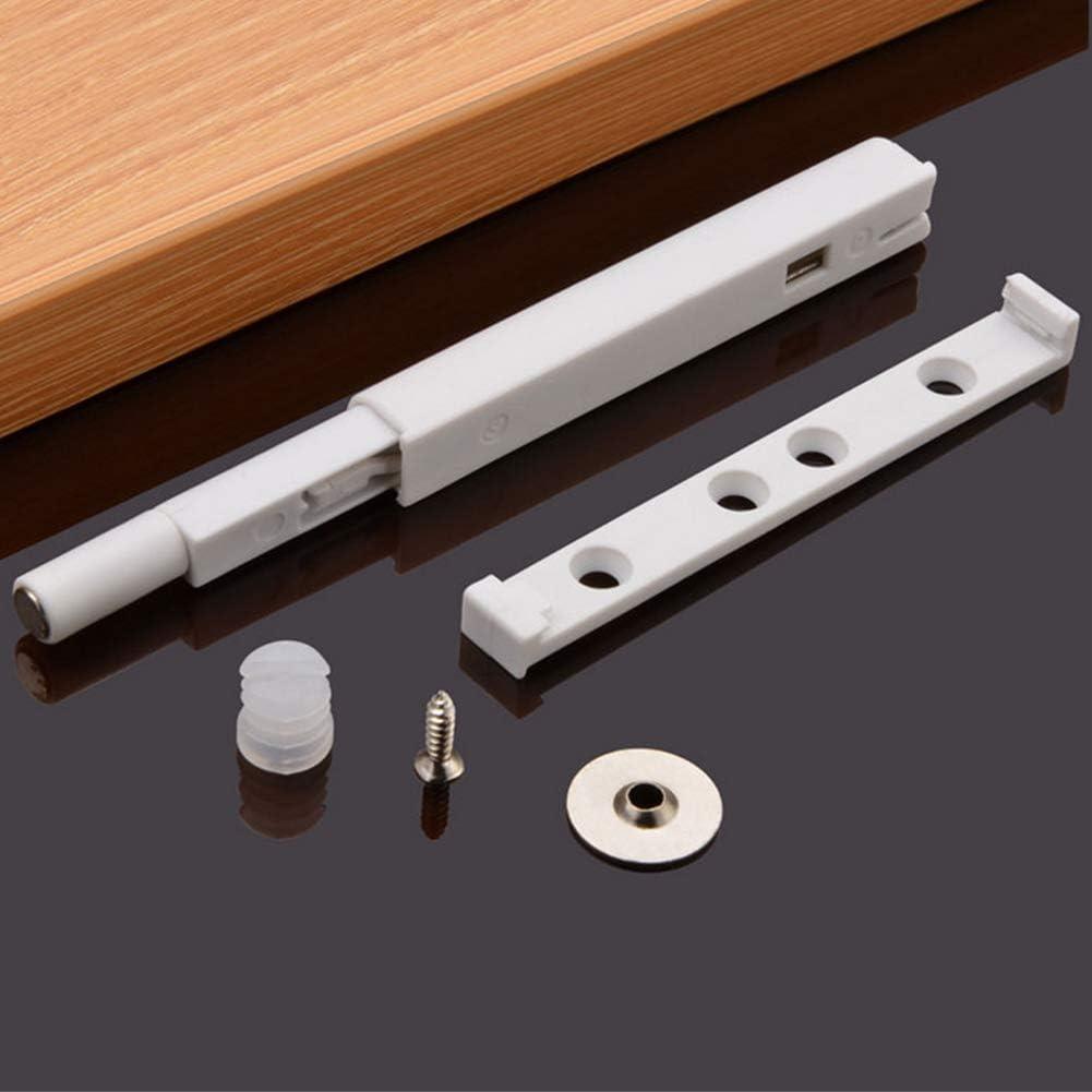 Taille Unique Blanc QLING Lot de 10 clapets magn/étiques pour Porte de tiroir de Placard