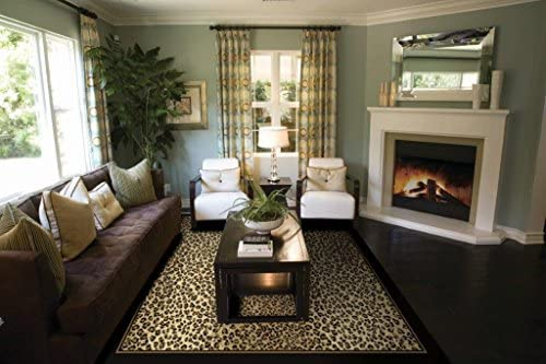 Modern Area Rug Brown Cheetah Leopard Large Rugs for Living Room 8×10 Under 100