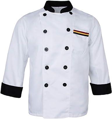 Chaqueta De Chef De para Larga Damas Manga para Mode De Marca Hombre Botones De Chaqueta De Panadero Ropa De Chef Gastronomía Chaqueta De Chef Abrigo Restaurante Uniforme De Chef: Amazon.es: Ropa