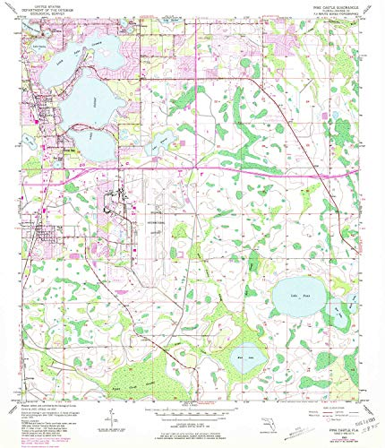 YellowMaps Pine Castle FL topo map, 1:24000 Scale, 7.5 X 7.5 Minute, Historical, 1953, Updated 1981, 26.7 x 23 in - Paper