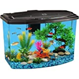 55 gallon power filter - Hawkeye 7 Gallon Bow View Aquarium Kit with LED Light and Power Filter