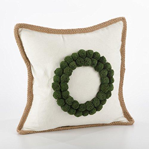 Fennco Styles Ricamato Collection Xmas Tree Throw Pillow- 2 Styles (Wreath) (Christmas Wreath Kohls)