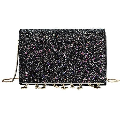 Square Evening Women Handbags Bags Meliya Bags Black Laser Holographic Mini Shoulder Transparent Messenger Bag PVC Crossbody 1qqWzA
