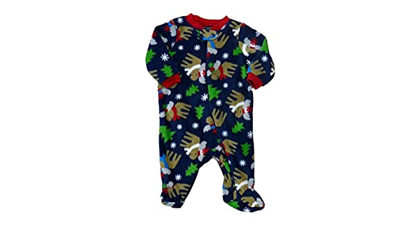 e44076b9e825 Amazon.com  Faded Glory Infant Boys Blue Fleece Moose Sleeper ...