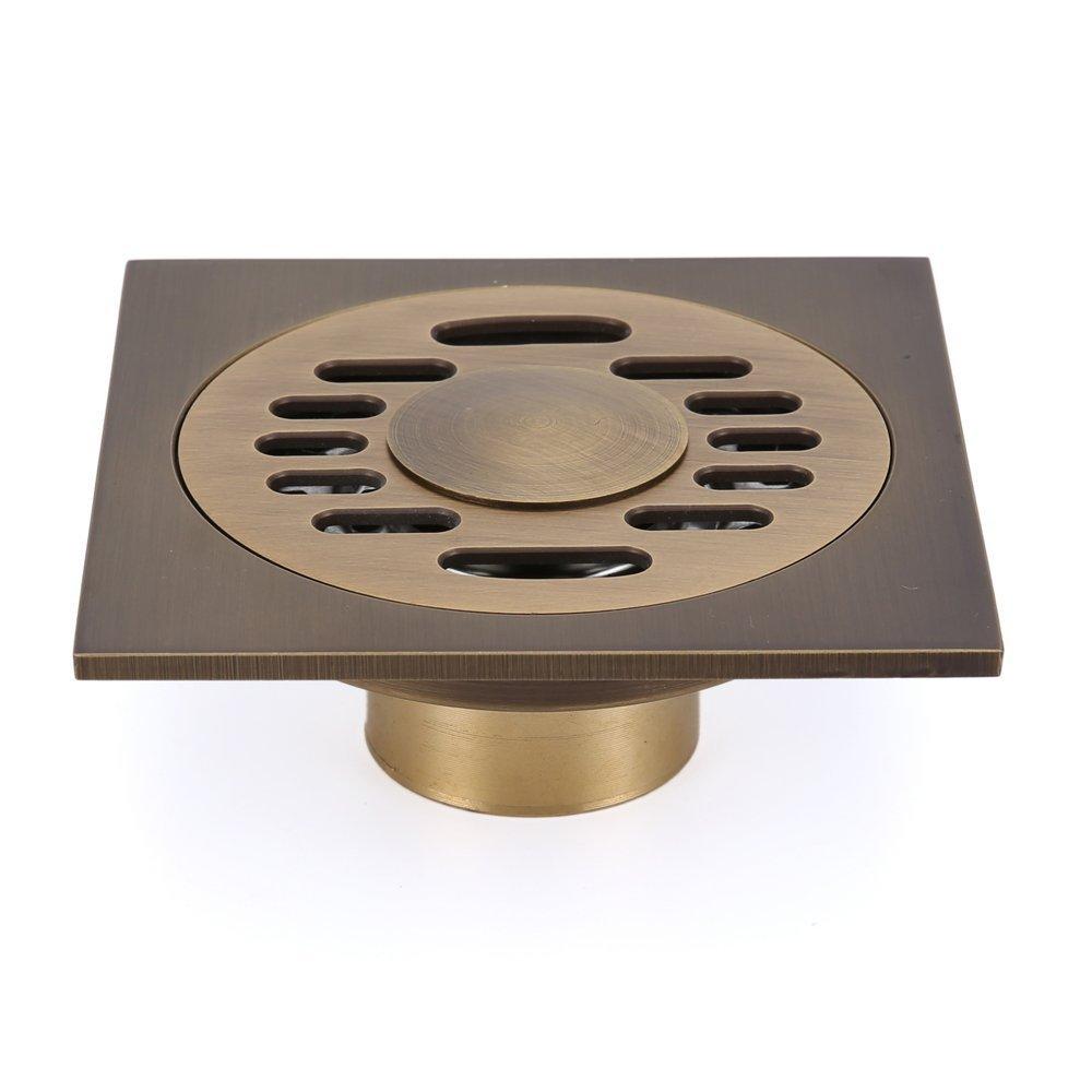 Bad Duschablauf 100 mm Eridanus Bronze K/üchen Garten Bodenablauf