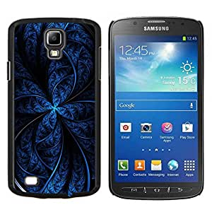 Stuss Case / Funda Carcasa protectora - Patrón Negro Noche estrella del fractal líneas oscuras - Samsung Galaxy S4 Active i9295