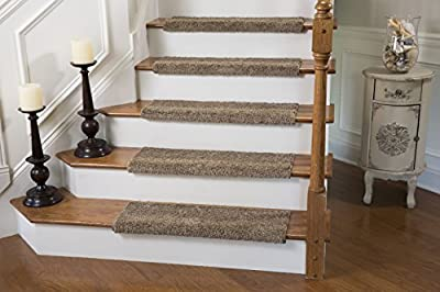 Caprice Bullnose Carpet Stair Tread with Adhesive Padding, by Tread Comfort