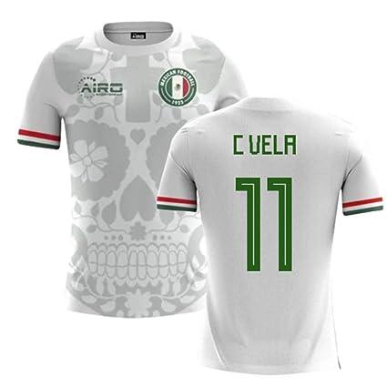 004e13a0a Amazon.com   Airosportswear 2018-2019 Mexico Away Concept Football Soccer T-Shirt  Jersey (Carlos Vela 11) - Kids   Sports   Outdoors