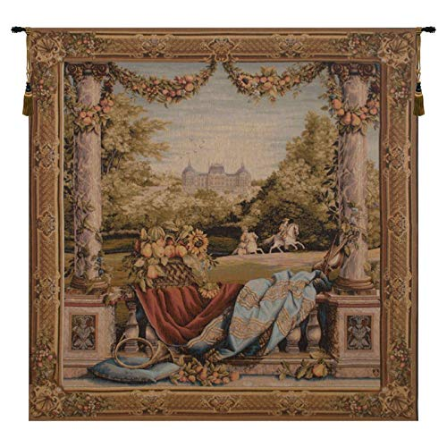 Tapestry, Extra Large, Wide - Elegant, Fine, French & Wall Hanging - Chateau Bellevue, ()