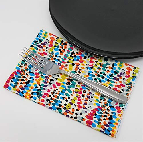 Speckle Napkins (4) Cool Tones, Cotton Twill - Set of Four, American Made
