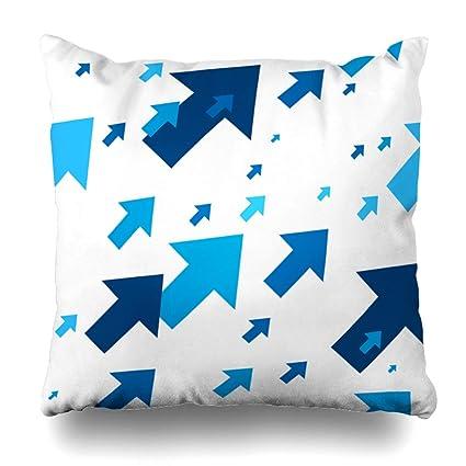 Amazon Com Gisruru Throw Pillow Cover White Blue Rise Pattern
