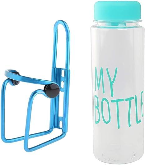 F Fityle Portabidones Ajustable de Botella para Bicicleta + 500ML ...