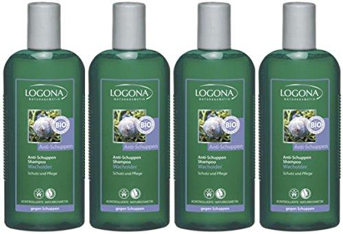 Logona Anti-Schuppen Shampoo Wacholderöl 4x250ml