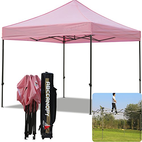 (5+Colors)ABCCANOPY Commercial 10X10 FT Outdoor Pop Up Portable Shelter Instant Folding Canopy Tent (PINK)