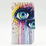 "LG G3(5.5"")case,D852/D850/D851/D855 case,Bujing Eye Pattern,Synthetic Leather+Soft TPU Card Slot Stand Wallet Case Only For LG G3(5.5"")(2014)"