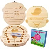 Baby Tooth Fairy Box Keepsake for Boys  Wooden Tooth Holder for Kids   Baby Shower & Birthday Gift