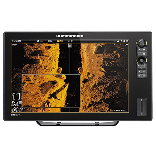 Humminbird 410420-1 Solix 15 Chirp Mega Si GPS Fishing Charts & Maps ()