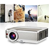 EUG Home Cinema 4200 Lumens 1080p, Hdmi USB Tv Input, LCD Video Projector, Home Theater Projector, 5000:1 Contrast Ratio, up to 50000 Hours Led Lamp Life