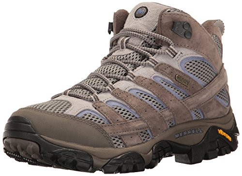Merrell Women's Moab 2 Mid Waterproof Hiking Shoe, Falcon, 8.5 M US