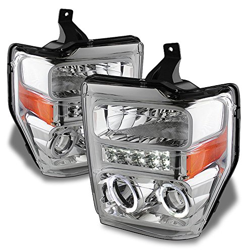 ACANII - For 2008 2009 2010 Ford F250 F350 F450 SD LED Halo Projector Headlights Headlamps Driver + Passenger Side