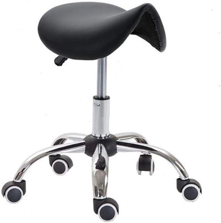 Los músculos Ruedas giratorias de Gas hidráulico Castor Ruedas giren flexibiliza Las oficinas del médico Tipos de Superficie Tiendas de Tatuajes (Color : Black, Size : 50-65cm)