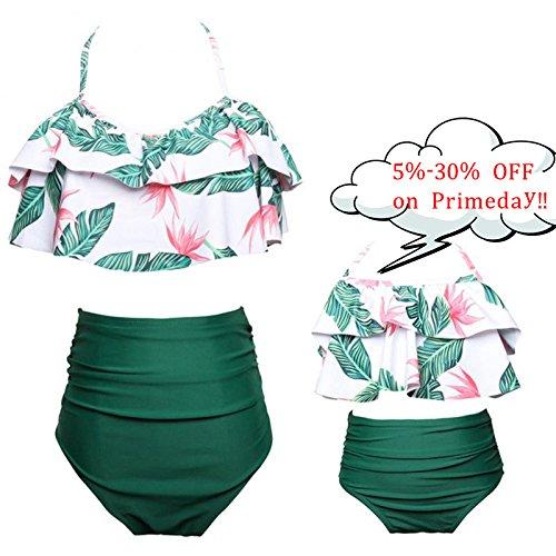 Kakawayi Monther and Daughter Swimwear Family Matching Swimsuit Girls Swimwear