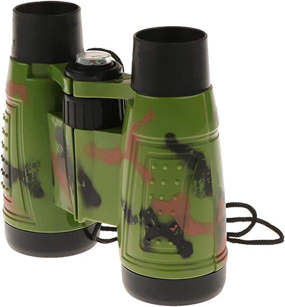 Homyl 6x30 Kids Binoculars Detective Toy w Strap /& Compass Kid Sightseeing Birdwatching Wildlife Outdoors Scenery Indoors Pretend Play Props Gifts