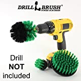 New Quick Change Shaft Bathroom Power Scrub Brush Tile and Grout Kit by Drillbrush