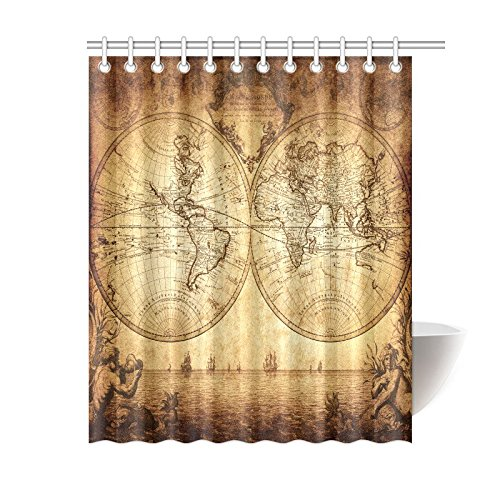 Nautical map - Old world map shower curtain ...