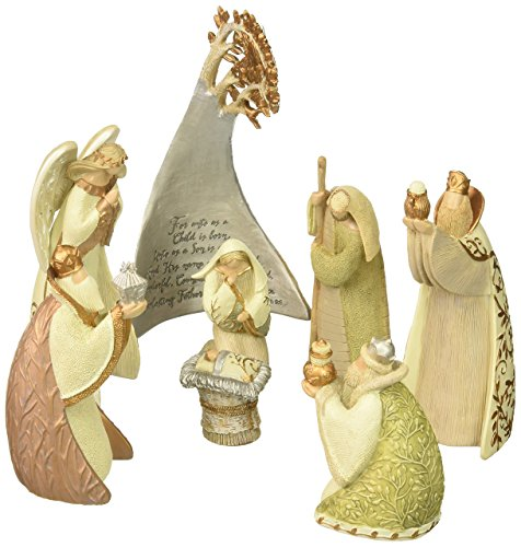 Enesco Legacy of Love by Gregg Gift Birch Tree Nativity Stone Resin Figurine Set of 8, 5