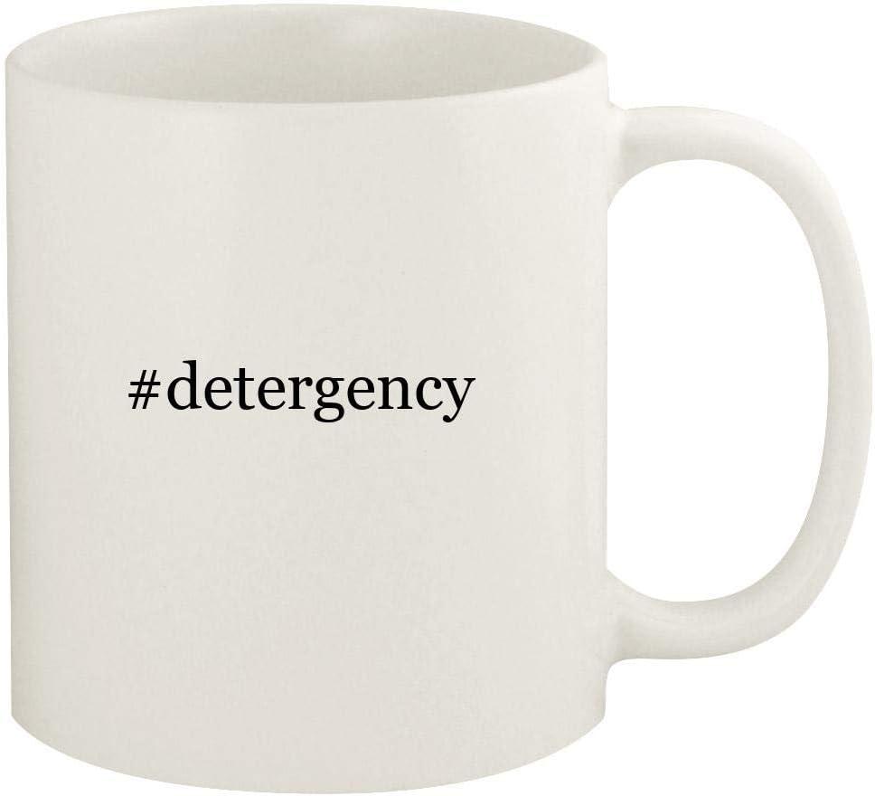 #detergency - 11oz Hashtag Ceramic White Coffee Mug Cup, White
