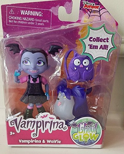 Disney jr Vampirina and Wolfie with Backpack Ghoul Glow Figure Set