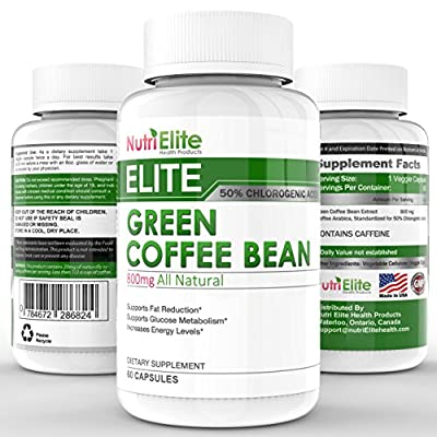 Pure Green Coffee Bean Extract For Weight Loss ★ 50% Chlorogenic Acid ★ Boosts Metabolism ★ Reduces Sugar Cravings ★ Balances Blood Sugar Levels ★ Premium Quality and Made in the USA