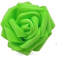 50x Rosa Teste di Fiore Artificiale Schiuma Sposa Bouquet Decorazione Matrimonio Partito Casa
