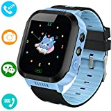 Kids Smart Watches Phone - 1.4' Touch Screen Children Phone Wristwatch with Call SOS Voice Chat Camera Flashlight Alarm Learning Games Toy Halloween Thanksgiving Gifts for Boys Girls Age 4-12 (Blue)