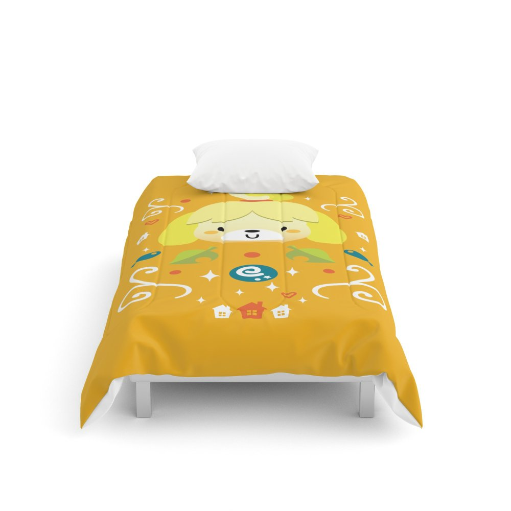 Society6 Animal Crossing: Isabelle Comforters Twin: 68'' x 88''