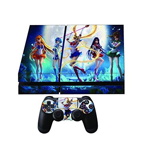 Sailor Moon Premium Designer Limited Edition Playstation 4 Skin + 2 Free PS4 Controller Skins ()