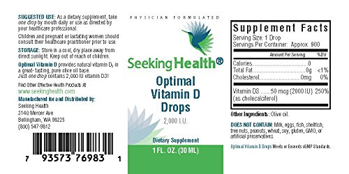 Seeking Health | Optimal Vitamin D3 Liquid | Liquid Vitamins | 2,000 IU Vitamin D per Drop by Seeking Health (Image #5)