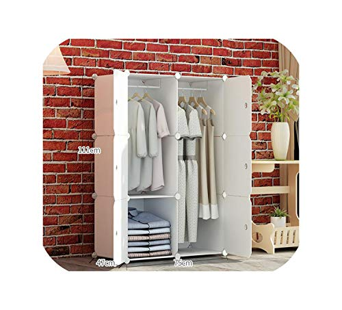 Simple Wardrobe Simple Modern Economy Plastic Assembly Wardrobe Bedroom Space Dormitory Storage Cabinet,Package 2