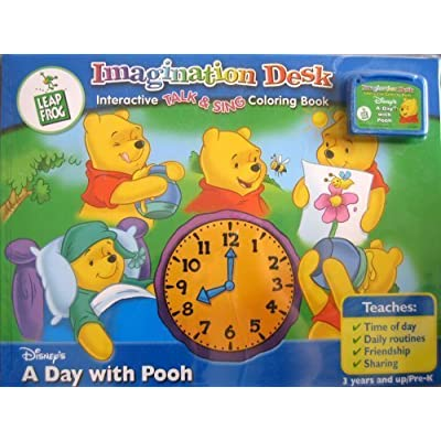 Leap Frog - Imagination Desk - Disney - A Day With POOH - Cartridge + Interactive Talk & sing Coloring Book - 3 Years and Up/PRE K: Toys & Games [5Bkhe1804360]