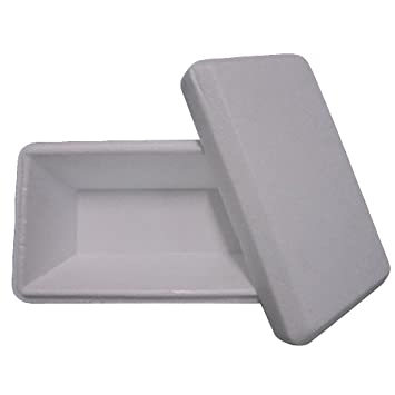 Unidades 60 bandejas térmicas CC 750 de poliestireno blanco para helado Base + tapa Ice Creme