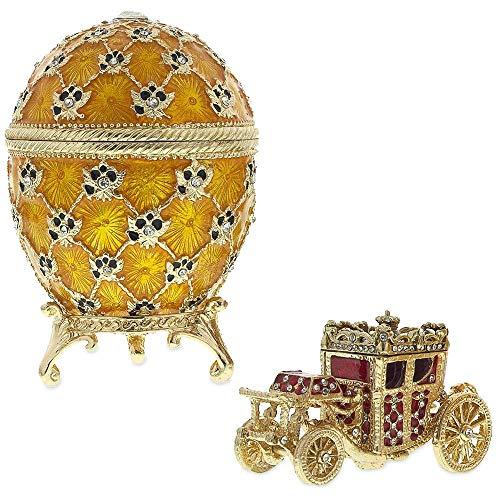 BestPysanky 1897 Coronation Royal Russian Egg 3.8 Inches