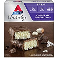 Atkins 5-Count Endulge Treat, Chocolate Coconut Bar