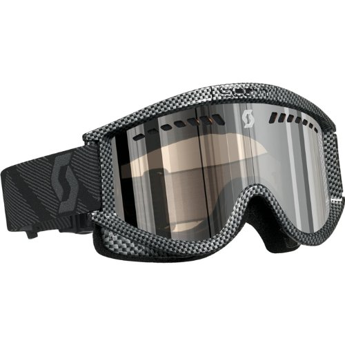 Scott US Heli OTG Goggle (Plus Carbon, Small, Silver Chrome)