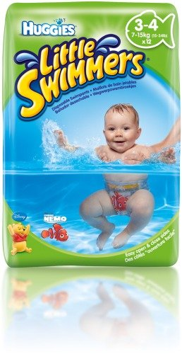 Pack Of 6 Baby Changing & Nappies Huggies Little Swimmers Size 2-3 12 Per Pack