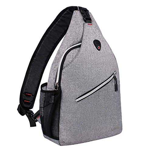 MOSISO Rope Sling Backpack (Up to 13 Inch), Multipurpose Crossbody Chest Shoulder Outdoor Travel Hiking Daypack, Gray