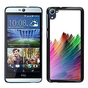 For HTC Desire D826 , S-type® Strokes Colorful Feather White - Arte & diseño plástico duro Fundas Cover Cubre Hard Case Cover