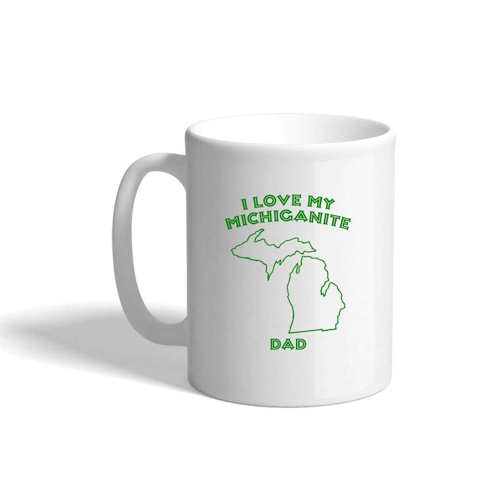 Amazoncom Forest Green I Love My Michiganite Dad Mi