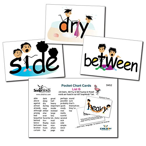 SnapWords List G Pocket Chart Cards - Sight Words