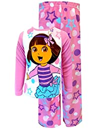 Dora the Explorer Dancing with the Stars Toddler Pajama Set for Little Girls